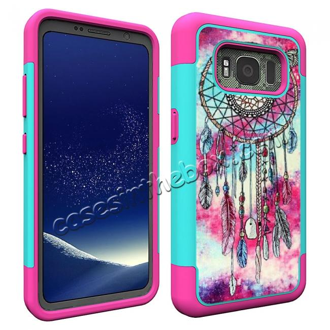 cheap Hybrid Dual Layer Armor Defender Protective Case Cover For Samsung Galaxy S8 Active - Dream Catcher