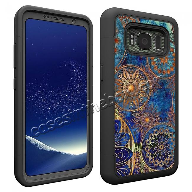 cheap Hybrid Dual Layer Armor Defender Protective Case Cover For Samsung Galaxy S8 Active - Gear Wheel