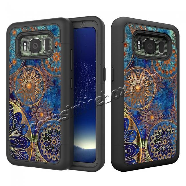 wholesale Hybrid Dual Layer Armor Defender Protective Case Cover For Samsung Galaxy S8 Active - Gear Wheel