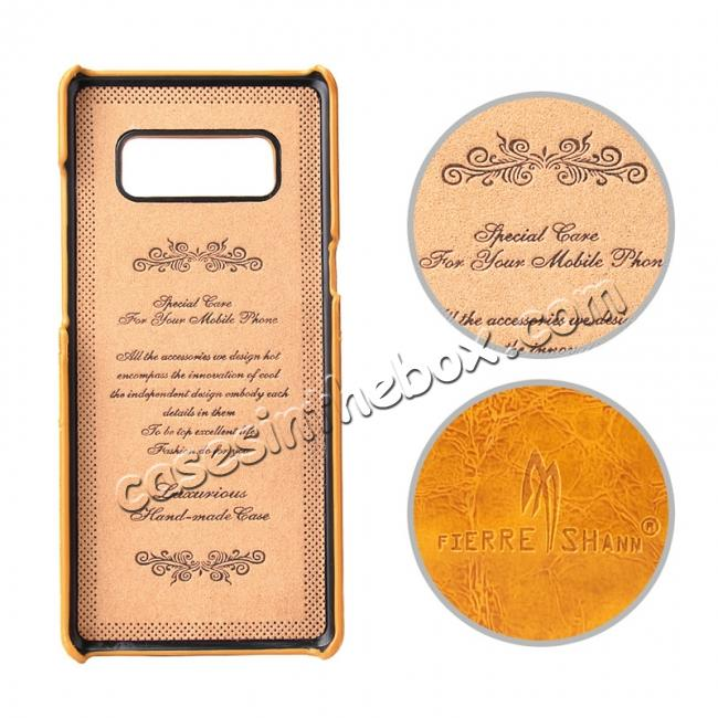 discount Luxury Card Slot Wax Oil Leather Case Cover For Samsung Galaxy Note 8 - Orange