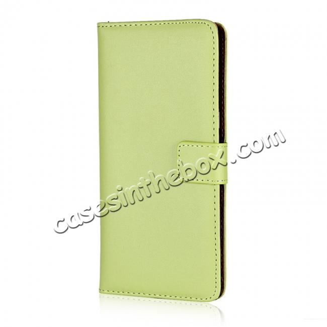 discount Luxury Genuine Leather Magnetic Flip Wallet Case Stand Cover For Samsung Galaxy Note 8 - Green