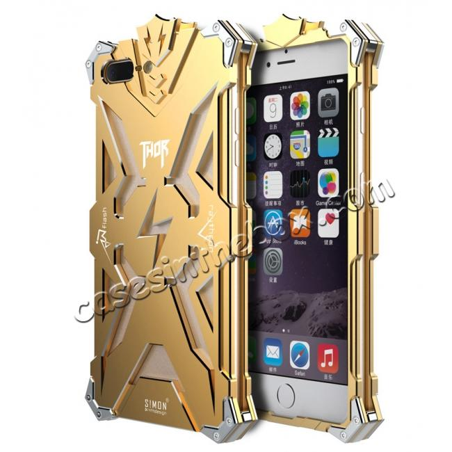 wholesale Premium Armor Full Aluminum Metal Protective Case for iPhone 8 Plus 5.5inch - Gold