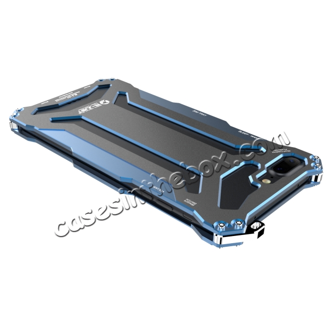 discount R-JUST Full Aluminum Metal Shockproof Protective Case for iPhone 8 4.7inch - Blue