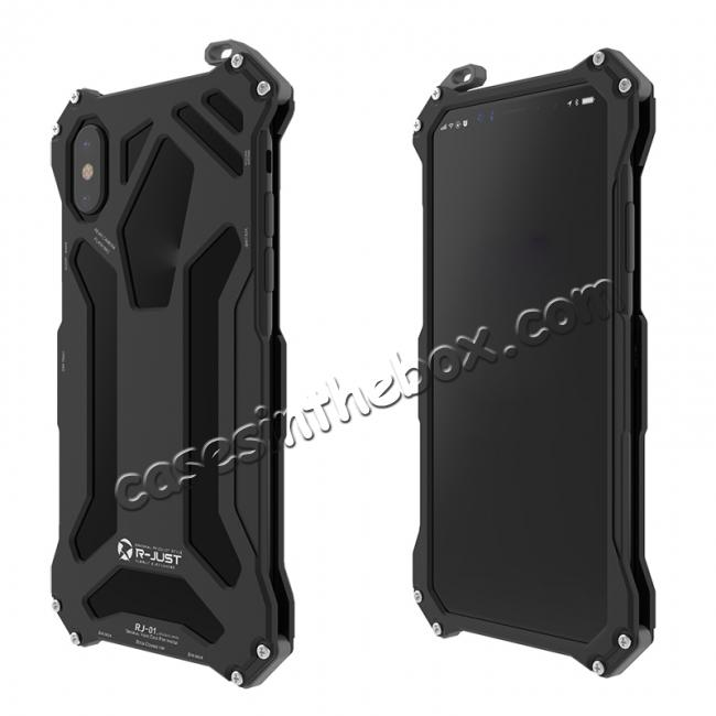 discount R-Just Gundam Aluminum Alloy Shockproof Case for iPhone X - Black