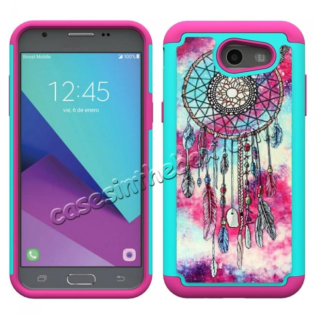 discount Rugged Armor Dual Layer Protective Case for Samsung Galaxy J3 Emerge / J3 Prime - Dream Catcher