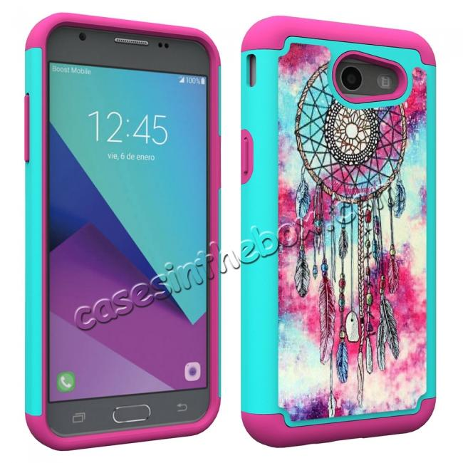 cheap Rugged Armor Dual Layer Protective Case for Samsung Galaxy J3 Emerge / J3 Prime - Dream Catcher