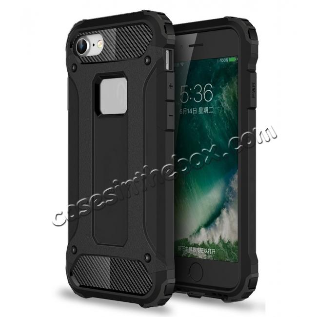 wholesale Shockproof Dual-layer Armor Hybrid Protective Case for Apple iPhone 8 4.7inch - Black