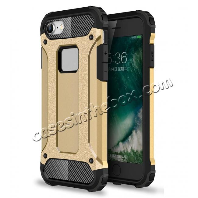 wholesale Shockproof Dual-layer Armor Hybrid Protective Case for Apple iPhone 8 4.7inch - Gold