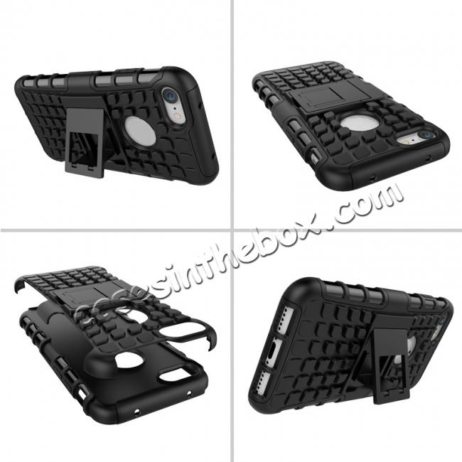 discount Tough Armor Shockproof Hybrid Dual Layer Kickstand Protective Case for iPhone 8 4.7inch - Black