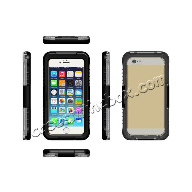 discount Waterproof Shockproof Dirtproof Hard Case Cover for iPhone 8 Plus 5.5 inch - Black