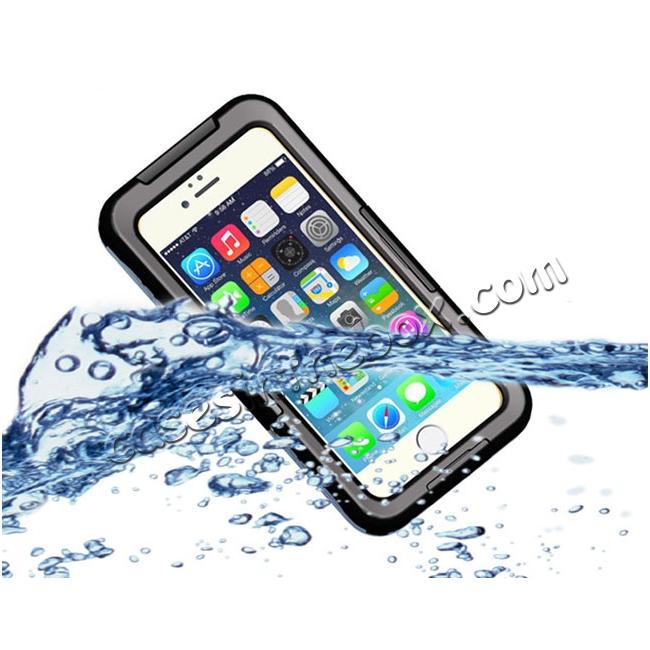 wholesale Waterproof Shockproof Dirtproof Hard Case Cover for iPhone 8 Plus 5.5 inch - Black