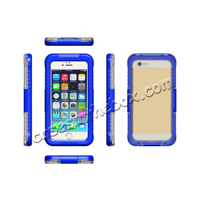 discount Waterproof Shockproof Dirtproof Hard Case Cover for iPhone 8 Plus 5.5 inch - Blue