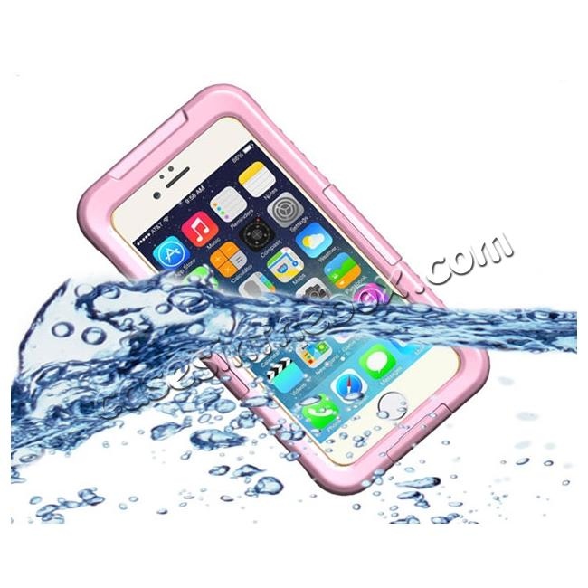 wholesale Waterproof Shockproof Dirtproof Hard Case Cover for iPhone 8 Plus 5.5 inch - Pink