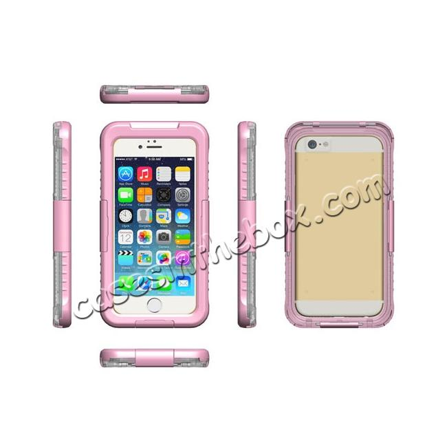 discount Waterproof Shockproof Dirtproof Hard Case Cover for iPhone 8 Plus 5.5 inch - Pink