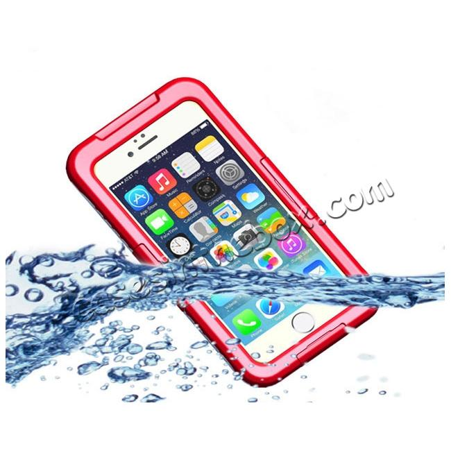 wholesale Waterproof Shockproof Dirtproof Hard Case Cover for iPhone 8 Plus 5.5 inch - Red