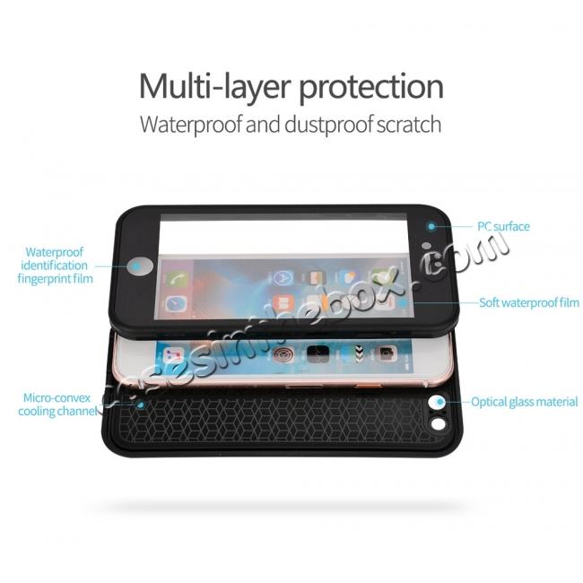 low price Waterproof Shockproof Hybrid Rubber TPU Phone Case Cover For iPhone 6s 7 8 Plus