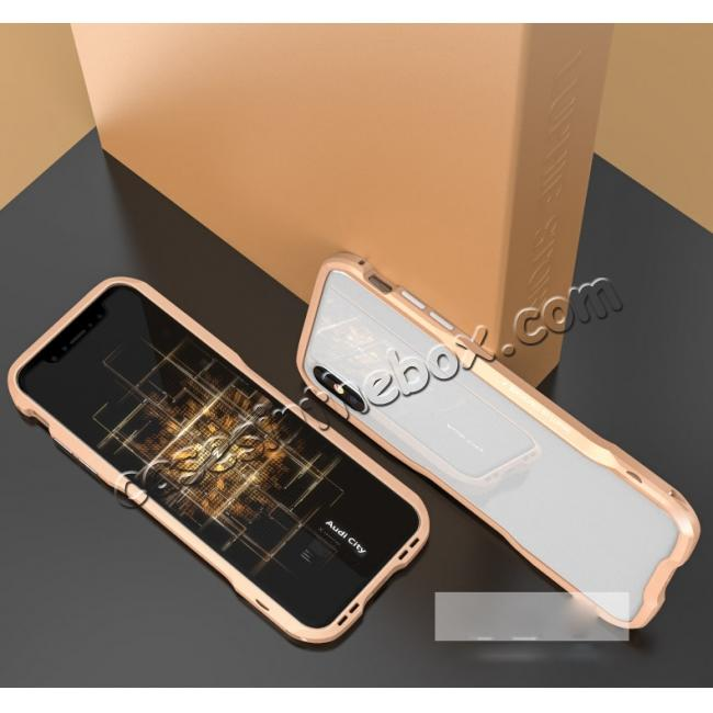discount Aluminium Alloy Metal Bumper Case for iPhone XS / X - Gold