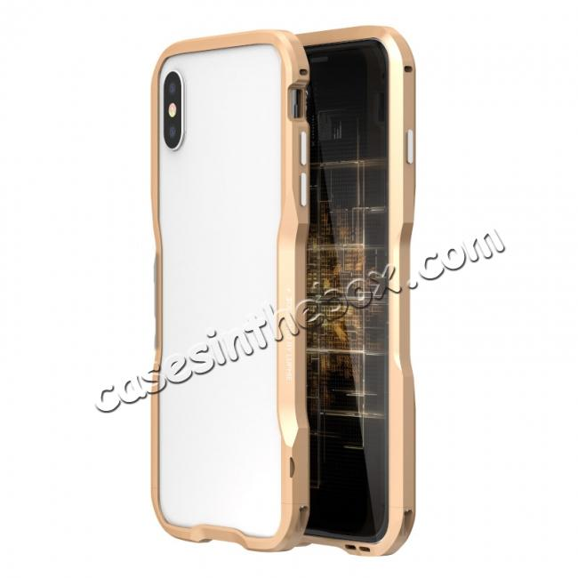 wholesale Aluminium Alloy Metal Bumper Case for iPhone XS / X - Gold