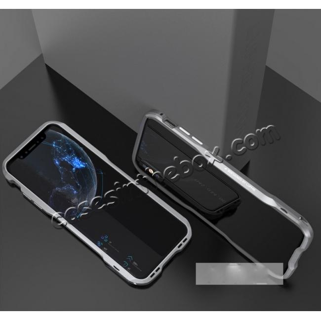 discount Aluminium Alloy Metal Bumper Case for iPhone XS / X - Grey