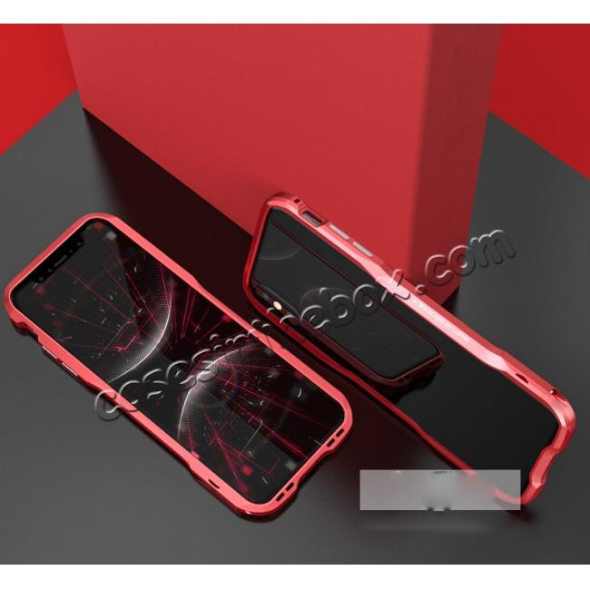 discount Aluminium Alloy Metal Bumper Case for iPhone XS / X - Red