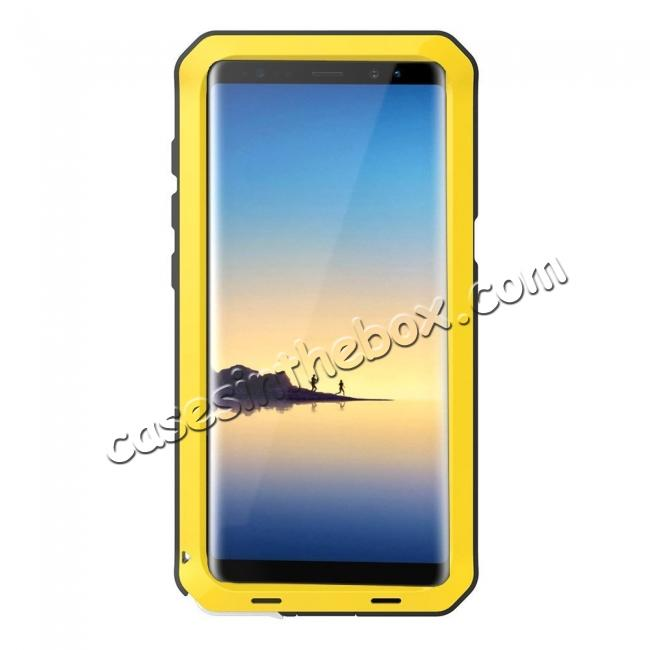 discount Aluminum Metal Shockproof Heavy Duty Cover Case for Samsung Galaxy Note 8 - Yellow