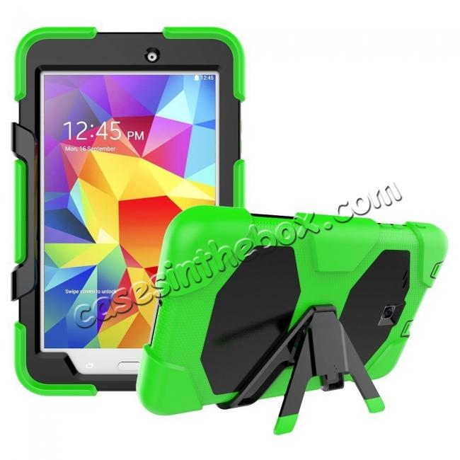 top quality Hybrid Kickstand Shockproof Impact Resistant Rugged Armor Case For Samsung Galaxy Tab E 8.0 - Green