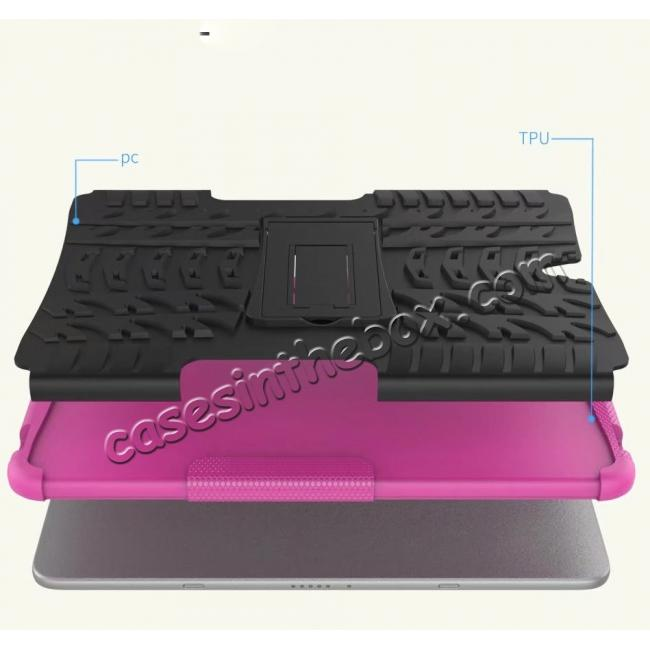 cheap Hybrid Protection Cover Built-In Kickstand Case For Samsung Galaxy Tab S3 9.7 2017 T820 - Hot Pink