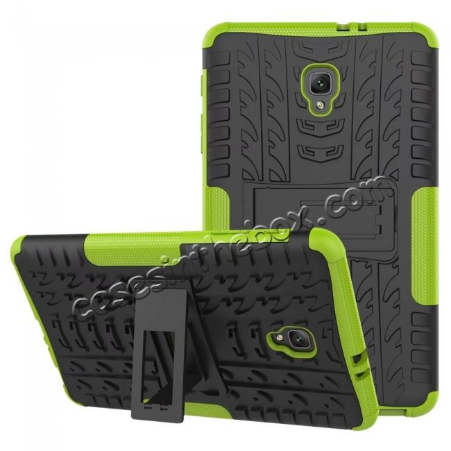 discount Hybrid Rugged Hard Case Cover with Kickstand for Samsung Galaxy Tab A 8.0 2017 T380/T385 - Green