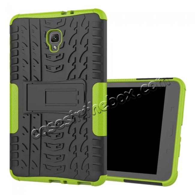 cheap Hybrid Rugged Hard Case Cover with Kickstand for Samsung Galaxy Tab A 8.0 2017 T380/T385 - Green