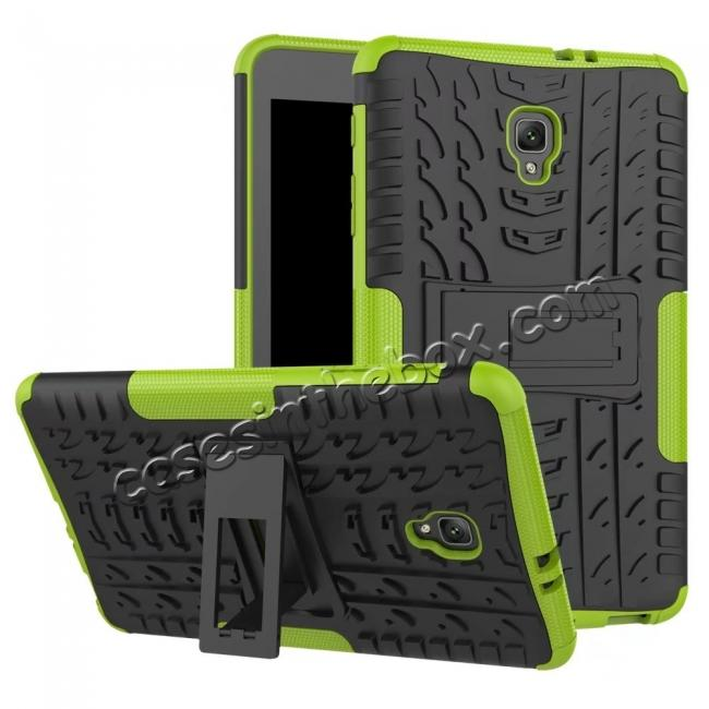 wholesale Hybrid Rugged Hard Case Cover with Kickstand for Samsung Galaxy Tab A 8.0 2017 T380/T385 - Green