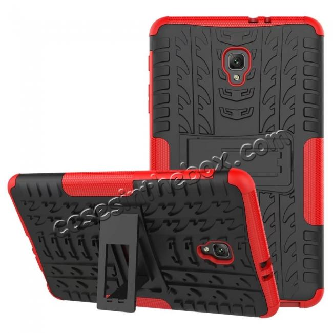 wholesale Hybrid Rugged Hard Case Cover with Kickstand for Samsung Galaxy Tab A 8.0 2017 T380/T385 - Red