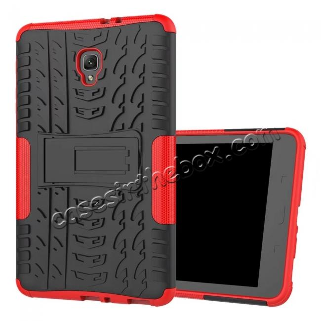 discount Hybrid Rugged Hard Case Cover with Kickstand for Samsung Galaxy Tab A 8.0 2017 T380/T385 - Red