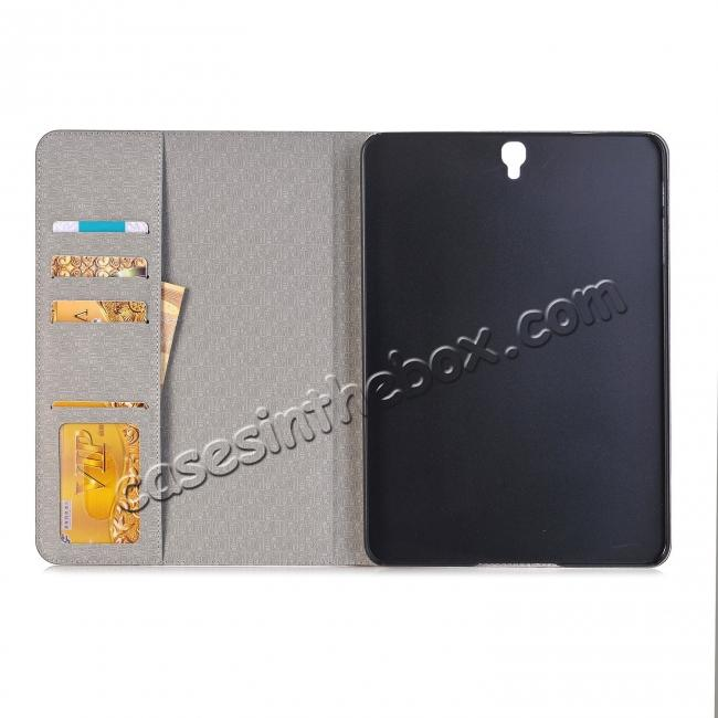 discount Leather Wallet Stand Folio Flip Smart Cover Case for Samsung Galaxy Tab S3 9.7Inch T820/T825 - Brown