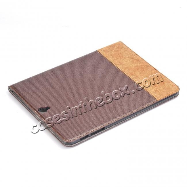 cheap Leather Wallet Stand Folio Flip Smart Cover Case for Samsung Galaxy Tab S3 9.7Inch T820/T825 - Brown
