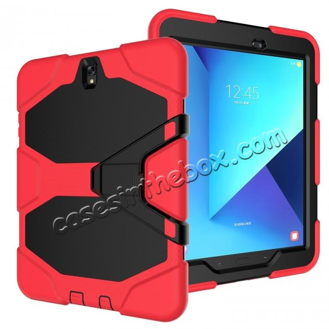 discount PC+Silicone Hybrid Kickstand Rugged Armor Case for Samsung Galaxy S3 9.7 T820/825 - Red
