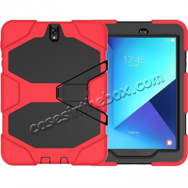 wholesale PC+Silicone Hybrid Kickstand Rugged Armor Case for Samsung Galaxy S3 9.7 T820/825 - Red