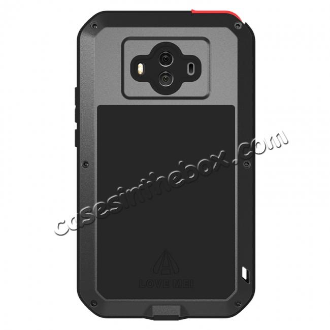 cheap Powerful ShockProof Dustproof LifeProof Aluminum Case for Huawei Mate 10 - Red