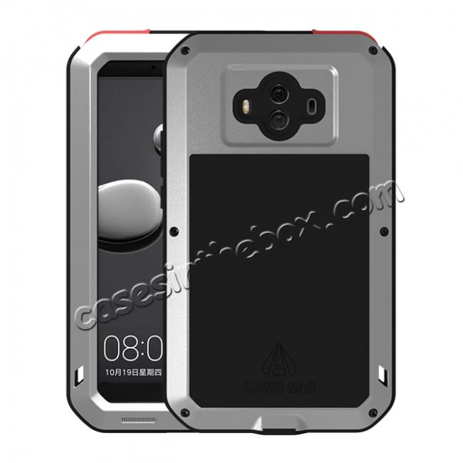 wholesale Powerful ShockProof Dustproof LifeProof Aluminum Case for Huawei Mate 10 - Silver