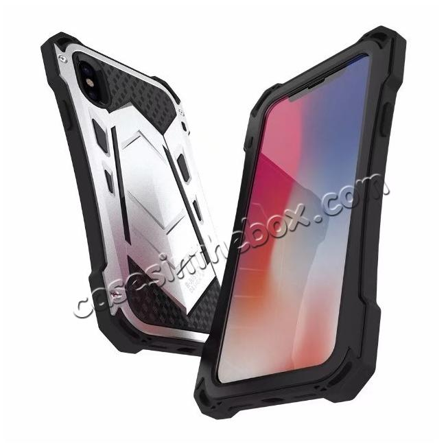 discount R-JUST Armor Aluminum  Waterproof Shockproof  Case for iPhone X - Black