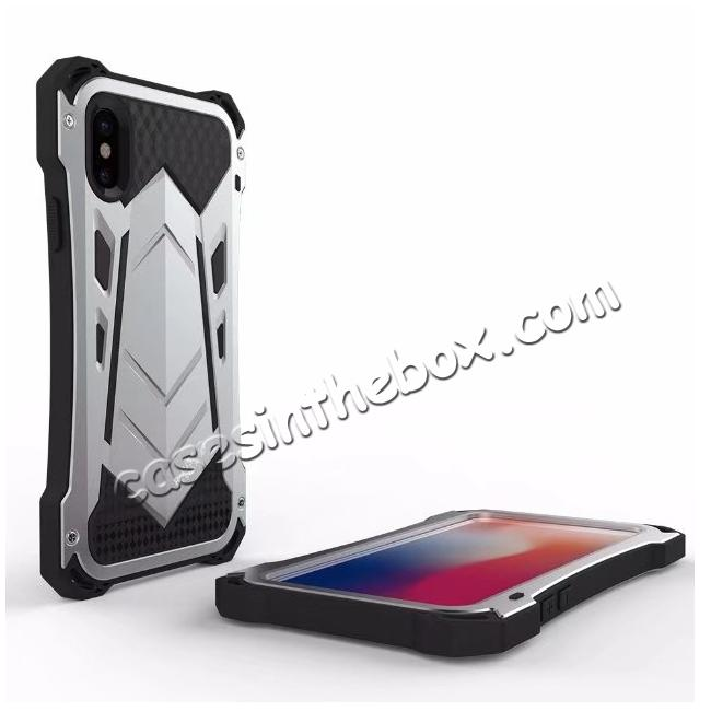discount R-JUST Armor Aluminum  Waterproof Shockproof  Case for iPhone XS / X - Silver