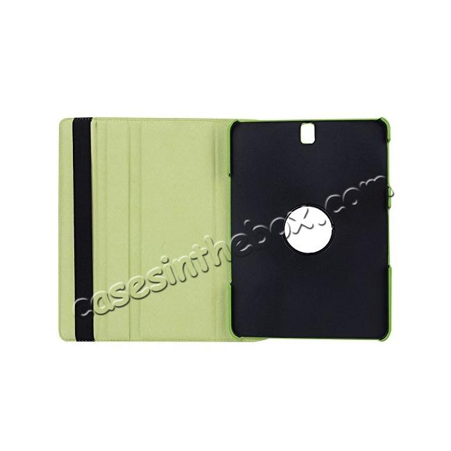 discount Slim Folio Stand PU Leather Case Cover Samsung Galaxy Tab S3 9.7 SM-T820 / SM-T825 - Green