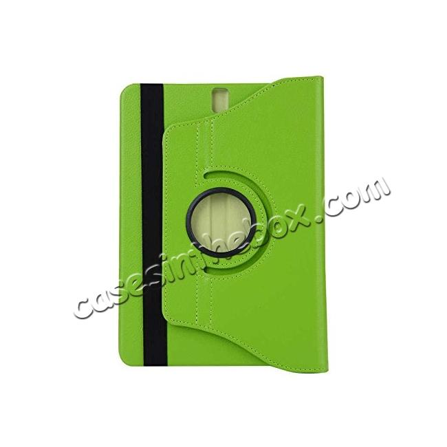 cheap Slim Folio Stand PU Leather Case Cover Samsung Galaxy Tab S3 9.7 SM-T820 / SM-T825 - Green