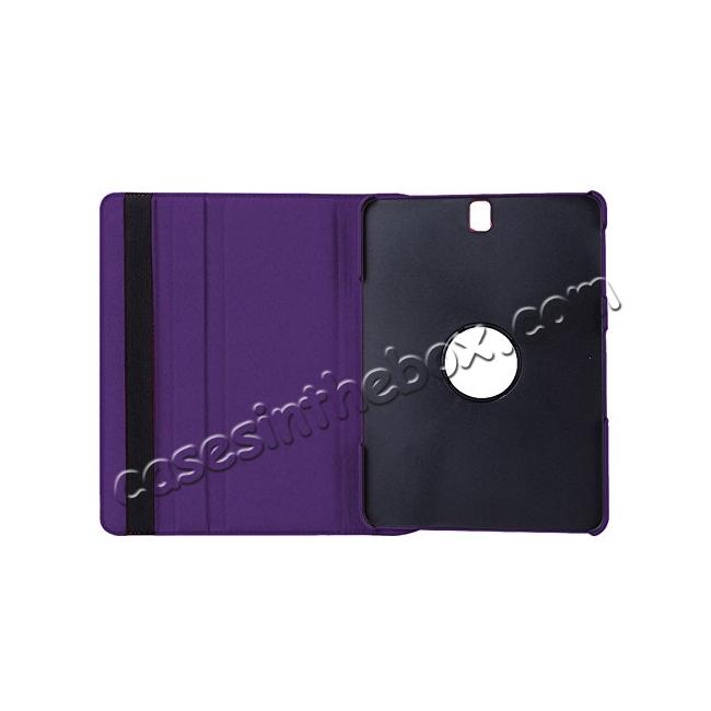 cheap Slim Folio Stand PU Leather Case Cover Samsung Galaxy Tab S3 9.7 SM-T820 / SM-T825 - Purple