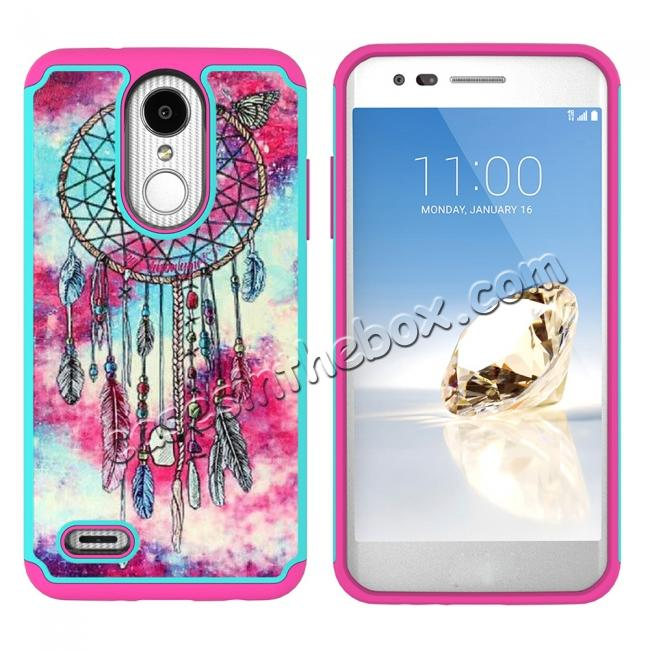 discount Full Body Hybrid Dual Layer ShockProof Protective Case For LG Tribute Dynasty / Aristo 2 - Dream Catche