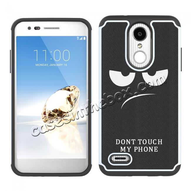 discount Full Body Hybrid Dual Layer ShockProof Protective Case For LG Tribute Dynasty / Aristo 2 - White&Black