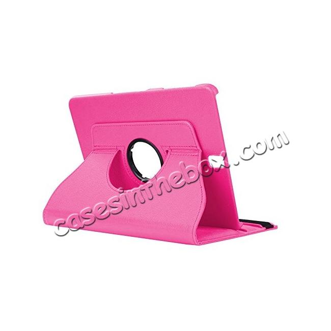 wholesale Slim Folio Stand PU Leather Case Cover Samsung Galaxy Tab S3 9.7 SM-T820 / SM-T825 - Hot Pink