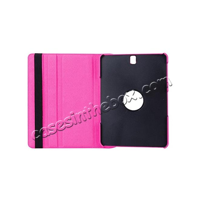 discount Slim Folio Stand PU Leather Case Cover Samsung Galaxy Tab S3 9.7 SM-T820 / SM-T825 - Hot Pink