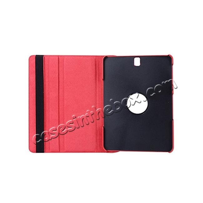 discount Slim Folio Stand PU Leather Case Cover Samsung Galaxy Tab S3 9.7 SM-T820 / SM-T825 - Red