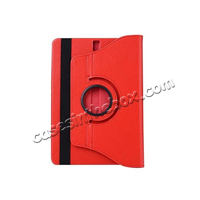 cheap Slim Folio Stand PU Leather Case Cover Samsung Galaxy Tab S3 9.7 SM-T820 / SM-T825 - Red