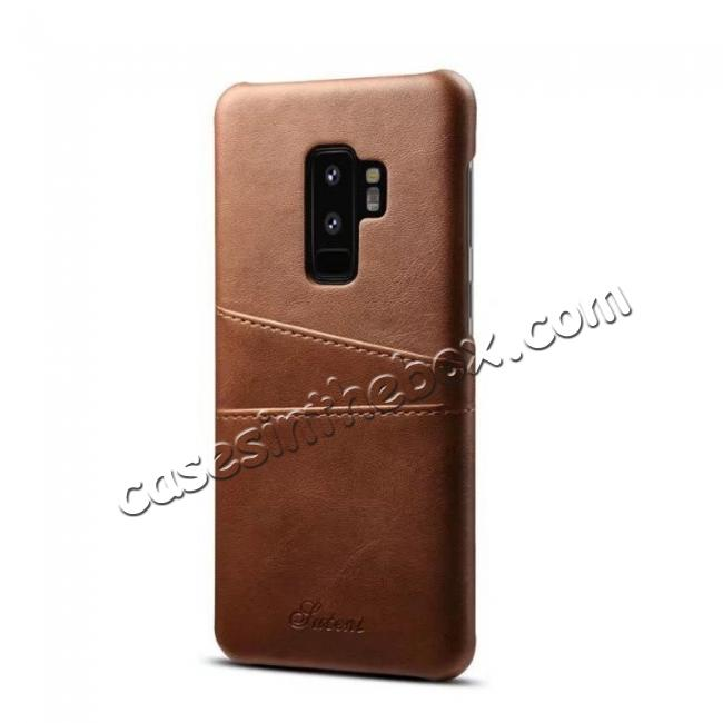 cheap wholesale Wallet Style 2 Card Slots Leather Case Back Cover for Samsung Galaxy S9 S9 Plus Note 9 / iPhone XS MAX / XR / XS